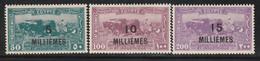 EGYPTE - N°105/7 ** (1926) Surchargés - Unused Stamps