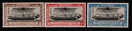 EGYPTE - N°108/10 ** (1926) Navigation - Unused Stamps