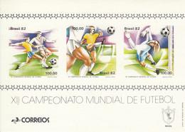 BRAZIL Block 48,unused,football - Blocks & Sheetlets
