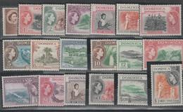 DOMINICA 550 ** 1954 - Definitiva Elisabetta II, N. 137/55. - Dominica (...-1978)