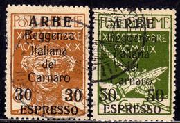 ARBE 1920 ESPRESSI SPECIAL DELIVERY SERIE COMPLETA COMPLETE SET USATA USED OBLITERE' FIRMATA SIGNED - Arbe & Veglia