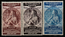 EGYPTE - N°196/8 ** (1937) - Unused Stamps