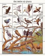 MDB-BK10-251 MINT PF/MNH ¤ GHANA 1991 KOMPL. SET ( 48w + 3blocks) ¤ BIRDS OF GHANA - AVES OISEAUX PAJAROS VOGELS VÖGEL - Pájaros Cantores (Passeri)