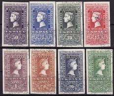 Spanien, 1950, 975/82,  Used Oo, 100 Jahre Spanische Briefmarken. 100 Years Of Spanish Stamps. - 1931-50 Usati