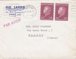 FRANCIA - PARIS - BUSTA ELLE TAPIRO - REPRèSENTANT - VIAGGIATA DA TUNIS - TUNISIA PER MILANO- ITALIA - Briefe U. Dokumente
