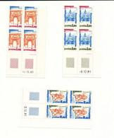 Services  - UNESCO  - Série N° 68 à 70 - 3 Blocs De 4 Timbres - Coins Datés - Ungebraucht