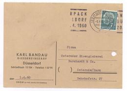 Beleg Karl Bandau Giessereibedarf Düsseldorf 1960 Nach Osterode Harz - Briefe U. Dokumente