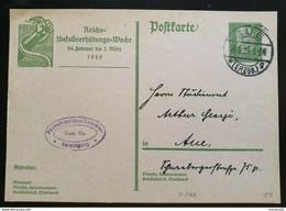 """Deutsches Reich 1929, Postkarte P186 """"Unfall"""" AUE(ERZGEB.) - Briefe U. Dokumente"""