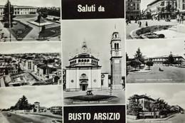 Cartolina - Saluti Da Busto Arsizio - Vedute Diverse - 1956 - Varese