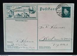 """Deutsches Reich 1929, Bild Postkarte P188 """"Seedienst Ostpreußen"""" KÖNIGSBERG - Briefe U. Dokumente"""
