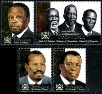 (184) Botswana / Botsuana  Persons / Presidents / Politicians  ** / Mnh  Michel 702-705 - Botswana (1966-...)