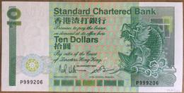 Standard Chartered Bank 10 Dollars 1985 UNC Non Circulé - Hongkong