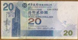 Bank Of China 20 Dollars 2005 UNC Non Circulé - Hongkong