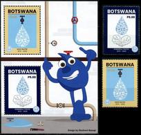 (315-316) Botswana  2020 / Save Water / Eau / Wasser   ** / Mnh  Michel 1131-32 + BL 65 - Botswana (1966-...)