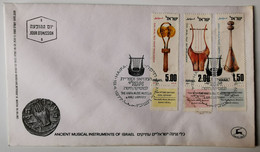 ISRAELE 1977 STRUMENTI MUSICALI - FDC