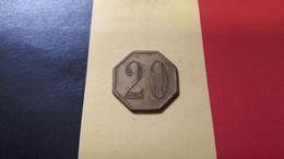 BELGIQUE ARTOIS 20 OCTOGONAL FRAPPE MEDAILLE - Professionali / Di Società