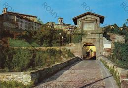 CARTOLINA  BERGAMO,LOMBARDIA,PORTA GARIBALDI GIA PORTA S.LORENZO,BELLA ITALIA,STORIA,CULTURA,MEMORIA,VIAGGIATA 1968 - Bergamo