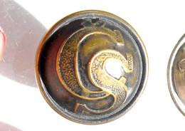 BOUTON UNIFORME - CS - ARMEE TCHEQUOSLOVAQUIE 1920-21 - 21mm / RARE ANCIEN BUTTON       (2202.91) - Bottoni