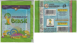 Brazil 2014 Unopened Bag With 5 Stickers From The Album Fifa World Cup Publisher Panini - Altri