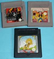 Lot Jeux De Console Nintendo GAME BOY Gameboy Lucky Luke Mercenary Force Maya L'Abeille Retro Gaming Retrogaming - Nintendo Game Boy