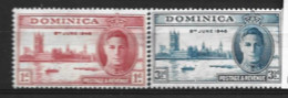 Dominica  1946  SG  110-1  Victory   Unmounted Mint - Dominica (...-1978)