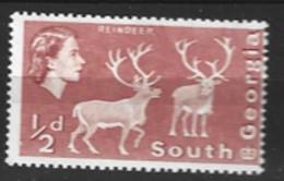 South Georgia  1963   SG   1   1/2d Mounted Mint - South Georgia