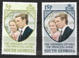 South Georgia  1975   SG  38-9  Royal Wedding   Unmounted Mint - South Georgia