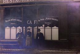 Carte Postale - Café Restaurant Delphin Chedozeau - Caffé