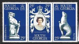 South Georgia  1978  SG 67-9  Anniversary  Coronation   Unmounted Mint - South Georgia