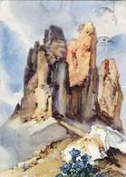 CPA ALDO RAIMONDI Peinture Des DOLOMITES - Les Trois Sommets De Lavaredo - Pittura & Quadri