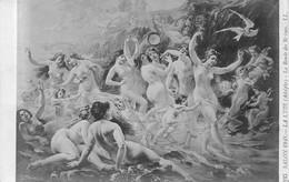 Adolphe La Lyre, La Ronde Des Sirènes - Salon 1909 - Nymphes, Danse, Chérubins, Anges, Oiseau -mouvement - Pittura & Quadri