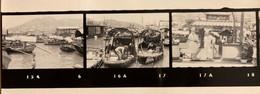 Hong Kong - Chine China - Ensemble De 13 Planches Diapos Photos - Militaires , Port , Bateaux , Villes - Cina (Hong Kong)