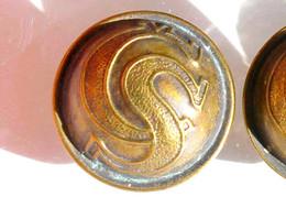 BOUTON UNIFORME - CS - ARMEE TCHEQUOSLOVAQUIE 1920-21 - 21mm / RARE ANCIEN BUTTON       (2202.91'') - Bottoni