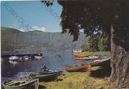 CARTOLINA  MANDELLO LARIO,LECCO,LOMBARDIA,LAGO DI COMO.BARCHE,BELLA ITALIA,VACANZA,MONTAGNA,SCIARE,VIAGGIATA 1980 - Lecco