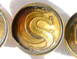 BOUTON UNIFORME - CS - ARMEE TCHEQUOSLOVAQUIE 1920-21 - 21mm / RARE ANCIEN BUTTON       (2202.91''') - Bottoni