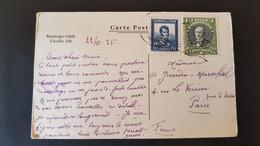 Carte Postale - Santiago Chili Casilla 338 - Sent To Paris France - Cile