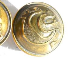 BOUTON UNIFORME - CS - ARMEE TCHEQUOSLOVAQUIE 1920-21 - 21mm / RARE ANCIEN BUTTON       (2202.91'''') - Bottoni