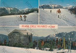 CARTOLINA  M.AVARO M.1710-2008,BERGAMO,LOMBARDIA,CAMPI DA SCI E PISTE DA FONDO,ALTA VALLE BREMBANA,VIAGGIATA 1980 - Bergamo