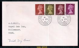ANGLETERRE 1968 BASIC SERIES DANS LE PREMIER JOUR DE COUVERTURE - Covers & Documents