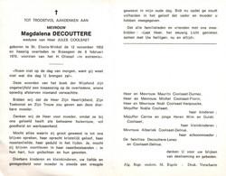 Magdalena Decouttere (1902-1970) - Santini