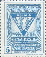 URUGUAY. CENTENRARIO ASOCIACION CRISTIANA DE JOVENES. YVERT Nro 555, PAQUETE DE 100.- LILHU - Cristianesimo