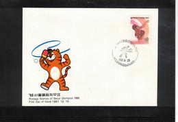 South Korea 1988 Olympic Games Seoul - Table Tennis Interesting Cover - Estate 1988: Seul