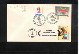 Spain 1988 Olympic Games Barcelona With Postmarks Of Albertville And Atlanta Interesting Cover - Estate 1992: Barcellona