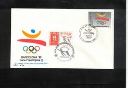 Spain 1988 Olympic Games Barcelona With Postmark Of Albertville Interesting Cover - Estate 1992: Barcellona