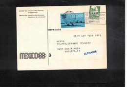 Mexico 1968 Olympic Games Mexico City Interesting Postcard - Estate 1968: Messico