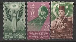 EGYPTE - N°285/7 ** (1952) - Unused Stamps