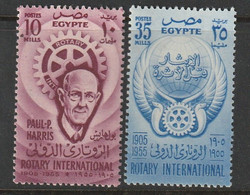 EGYPTE - N°374/5 ** (1955) Rotary International - Ungebraucht