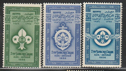 EGYPTE - N°379/81 ** (1955) Jamborée - Ungebraucht
