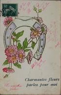 FANTAISIE - Charmantes Fleurs Parlez Pour Moi (carte Gauffrée) - Fiori
