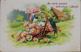 FANTAISIE - La Carte Postale Entretient L'amitié (carte Gauffrée) - Fiori